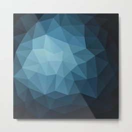 Dark Blue Metal Print
