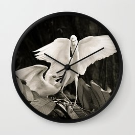 White bird dance 1 Wall Clock