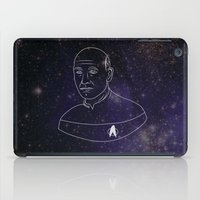 picard iPad Cases featuring Captain Jean-Luc Picard by lunsh