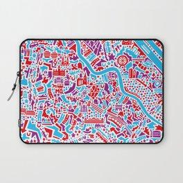 Vienna City Map Poster Laptop Sleeve