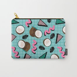 More Coconuts tropical summer vibes memphis abstract pattern print design by wacka Carry-All Pouch
