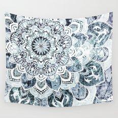 MOON SMILE MANDALA Wall Tapestry