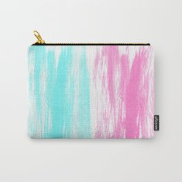 Summer Brushstrokes painting boho modern minimal abstract neon painting cool beach socal vibe Carry-All Pouch