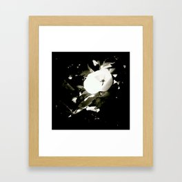 the strange flower Framed Art Print