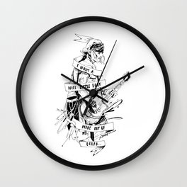 I WANT A NICE LITTLE BOAT MADE OUT OF OCEAN Wall Clock