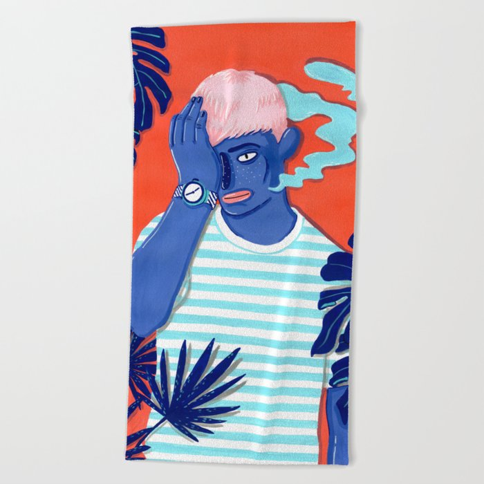 MEET ME AT THE POOL 1 Beach Towel