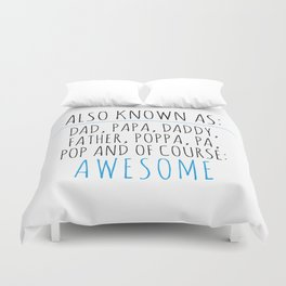 Awesome Dad Duvet Cover