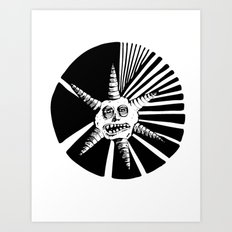 6 Points Art Print