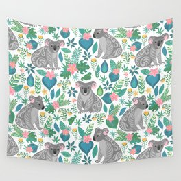 Floral Koala Wall Tapestry