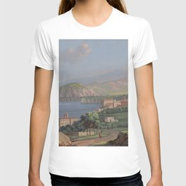 SORRENTO General View Bay of Naples Italia Italy Print Painting Napoli Landscape Home Decor Wall T-shirt
