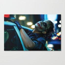 Joker Heath Ledger Canvas Print
