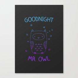 Goodnight Mr. Owl Canvas Print