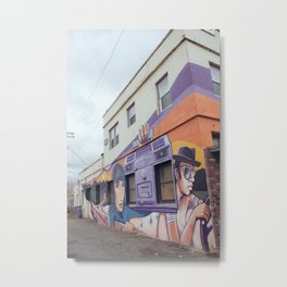 Boombox Mural - Williams, CA Metal Print