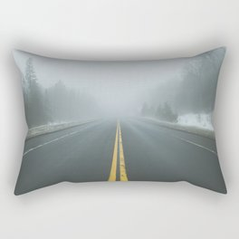 Driving through Fog Rectangular Pillow