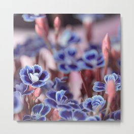 She Blue Metal Print