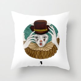 Pierrot...Pierrette Throw Pillow