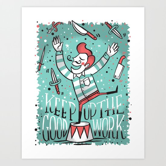 All up in the air Art Print