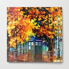 Tardis Alone Metal Print