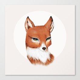 Moon Vixen in Orange Canvas Print