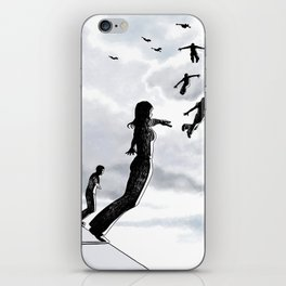 Sky dive to freedom iPhone Skin