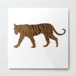 Brown Tiger Metal Print