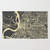 memphis Area & Throw Rugs featuring Memphis map by Map Map Maps