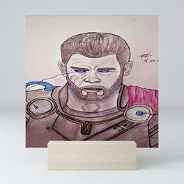 Chris Hemsworth by Double R Mini Art Print