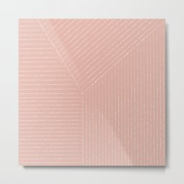 Lines (Blush Pink) Metal Print