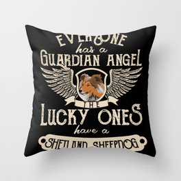 Sheltie Funny Gift Idea for Dog Owner Throw Pillow