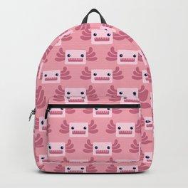 Cute Pastel Pink Axolotls Pattern Backpack