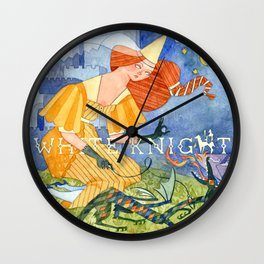 White Knight Wall Clock
