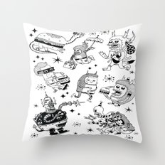 Frenemies Throw Pillow