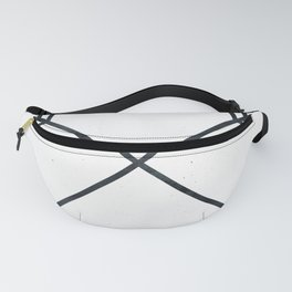 Arrows - Black and White Arrow Adventure Wanderlust Vintage Compass Design Fanny Pack