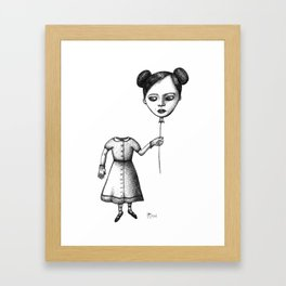 WHERE IS MY MIND? (Balloon Head Girl) Framed Art Print