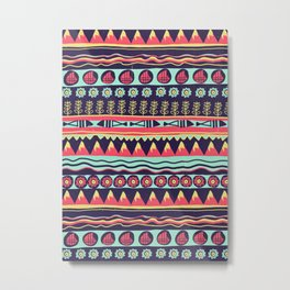 Scandinavian pattern Metal Print