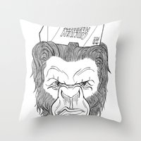 bigfoot Throw Pillows featuring Bigfoot  by Observer