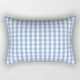 Classic Pale Blue Pastel Gingham Check Rectangular Pillow