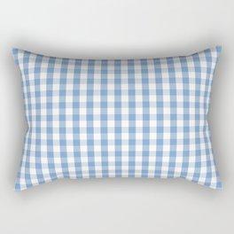Classic Pale Blue Pastel Gingham Check Rectangular Pillow