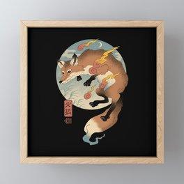 Fire Fox Ukiyo-e Framed Mini Art Print