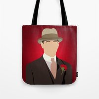 boardwalk empire Tote Bags featuring Nucky Thompson - Boardwalk Empire by Tom Storrer