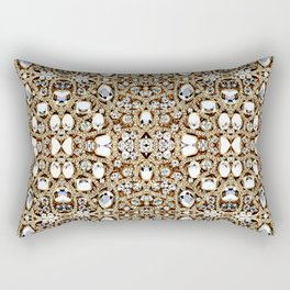 jewelry gemstone silver champagne gold crystal Rectangular Pillow
