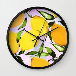 Citrus lemons Wall Clock