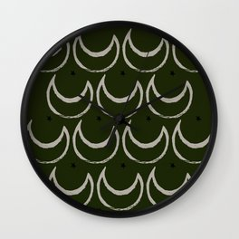 my moon and star Wall Clock