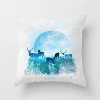 twilight Throw Pillows featuring Twilight by Lynette Sherrard Illustration and Design