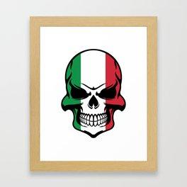Italian Flag Skull Framed Art Print