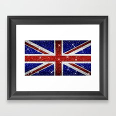 Glitters Shiny Sparkle Union Jack Flag Framed Art Print