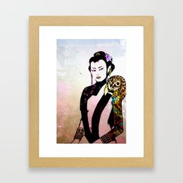 Flower and Willow Framed Art Print