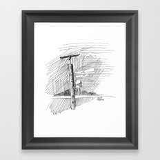 Sculpture at Tempelhofer Feld Framed Art Print