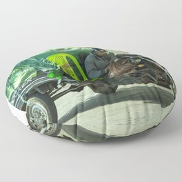 Come ride with me Floor Pillow