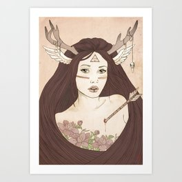 -She from the woods Art Print